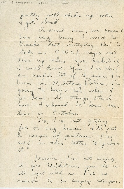 "Go to Letter to Jean Worthington by Edward ""Ned"" Manley, 1946. item page"