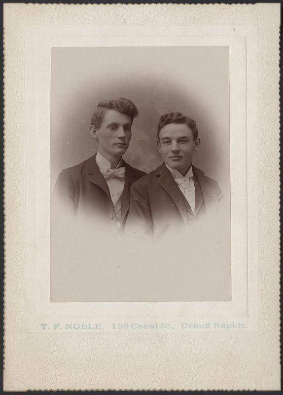 Portrait of painter Mathias Alten and Rudy Heubner
