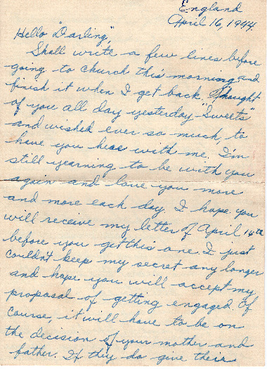 Go to Letter from Joe Olexa to Agnes Van Der Weide, April 16, 1944 item page