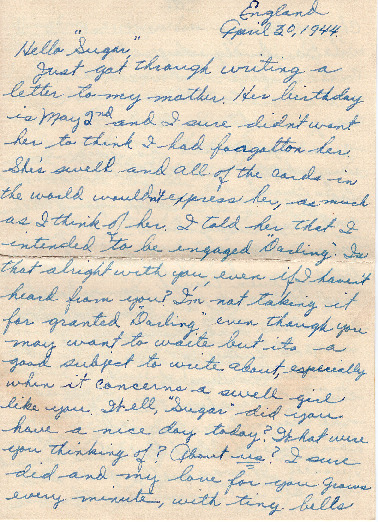 Go to Letter from Joe Olexa to Agnes Van Der Weide, April 30, 1944 item page