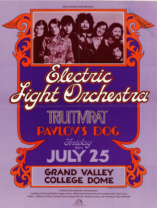 Go to Electric Light Orchestra, Triumvirat, Pavlov's Dog, July 25, 1975 item page