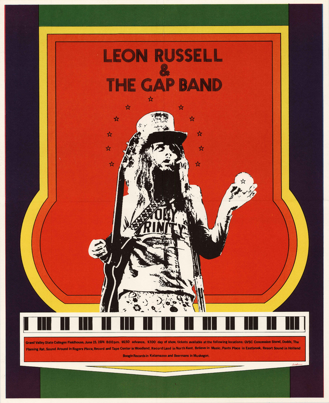 Go to Leon Russell and the Gap Band, June 15, 1974 item page