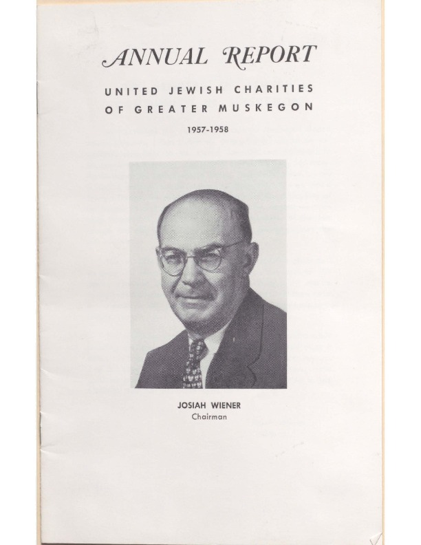 Go to B'nai Israel Temple Annual Report, 1957 item page