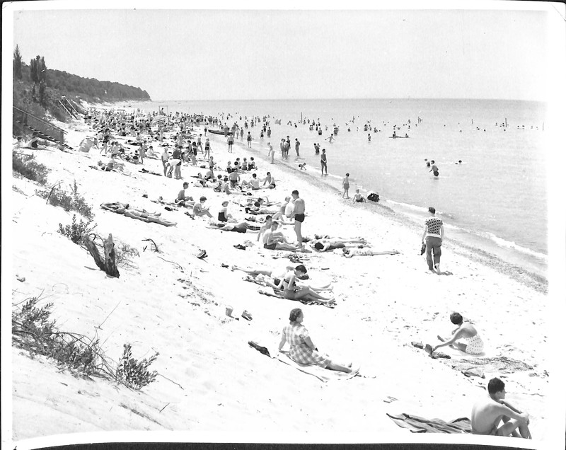 Go to Beachgoers at Lake Michigan item page