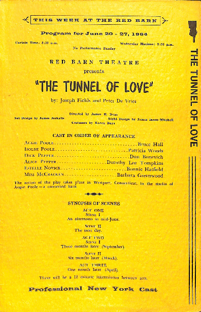 Go to The Tunnel of Love playbill item page