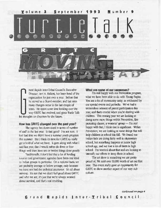 Go to Turtle Talk, Volume 3, September 1993 item page