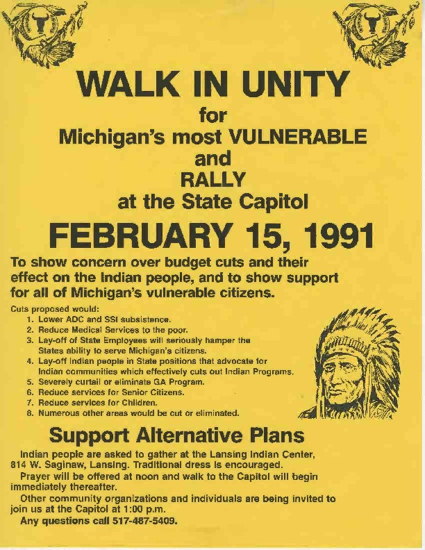 Go to Walk In Unity Rally, February 1991 item page