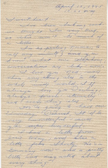 "Go to Letter to Edward ""Ned"" Manley by Jean Worthington, April 10, 1945. item page"