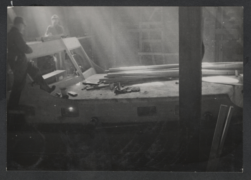 Go to Wisconsin. Construction of the Angus diesel powered steel cruiser item page