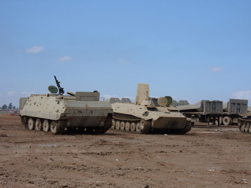 Go to Captured Iraqi armor sitting at FOB Morez item page