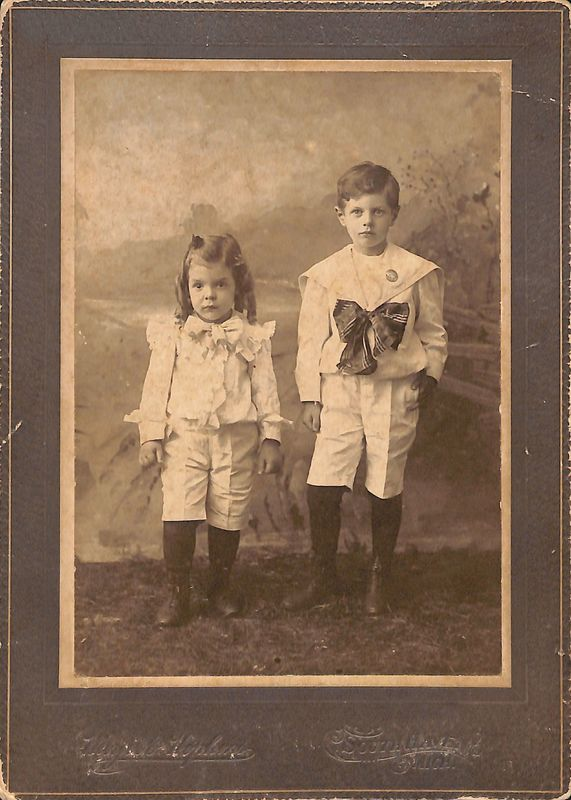 Go to Portrait of two young siblings item page