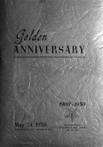Go to Women's Masonic Chapter Golden Anniversary program item page