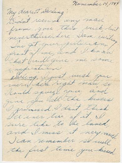 Letter from Agnes Van Der Weide to Joe Olexa, November 14, 1944