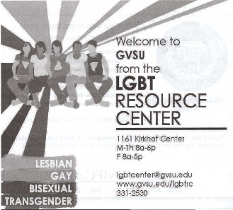 Go to Welcome to GVSU from the LGBT Resource Center item page
