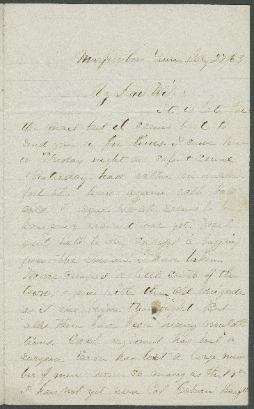 Go to John Bennitt to his wife [Letter 083] item page