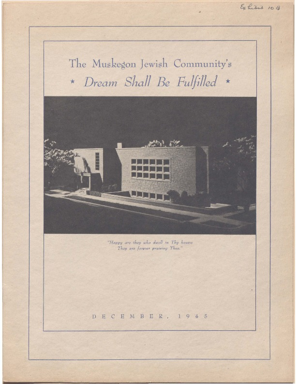 Go to The Muskegon Jewish Community's Dream Shall Be Fulfilled item page