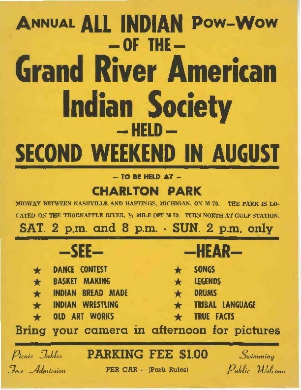 Go to All Indian Pow-Wow of the Grand River American Indian Society, August ???? item page