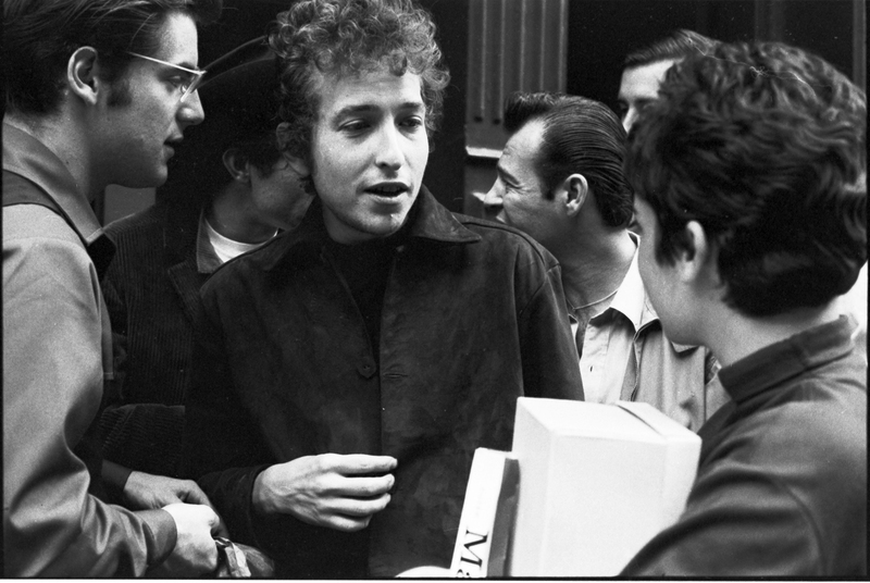 Go to Bob Dylan and John Sebastian on the street in Greenwich Village item page
