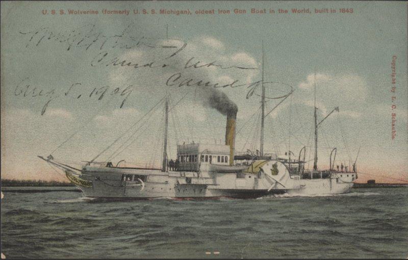 U.S.S. Wolverine, oldest Iron Gun Boat in the World, built in 1843