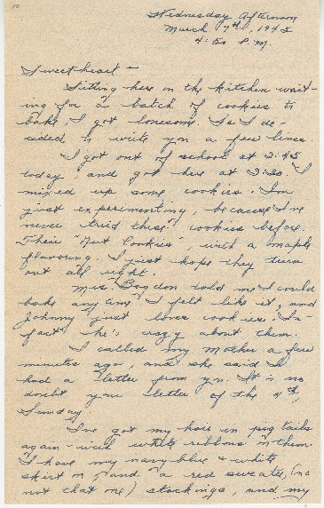 "Go to Letter to Edward ""Ned"" Manley by Jean Worthington, March 07, 1945. item page"
