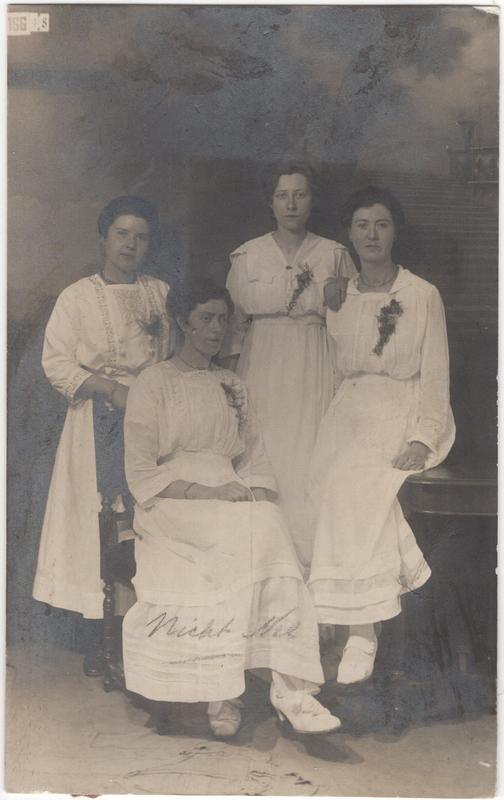 Neeltje Termaat (1886-1975) with three unidentified women, circa 1904