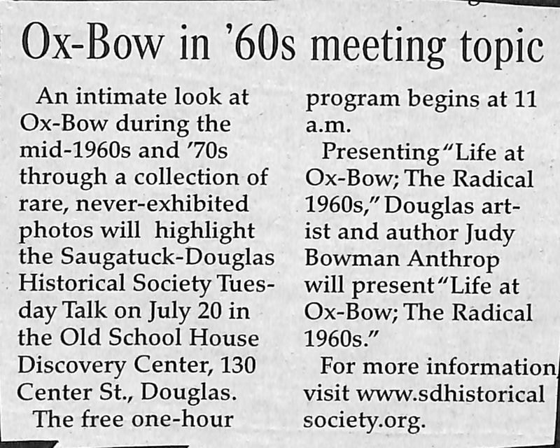 Go to Ox-Bow in '60s Meeting Topic item page