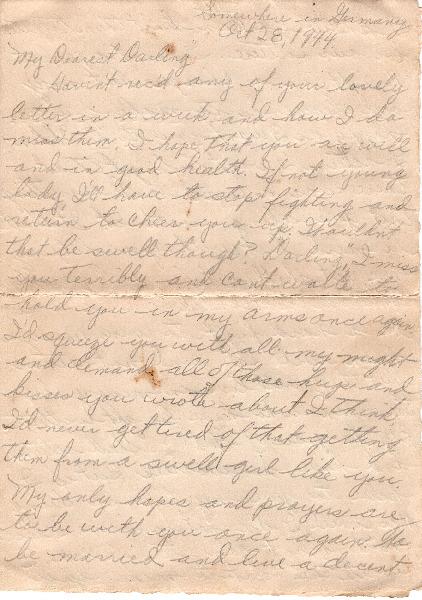 Go to Letter from Joe Olexa to Agnes Van Der Weide, October 28, 1944 item page