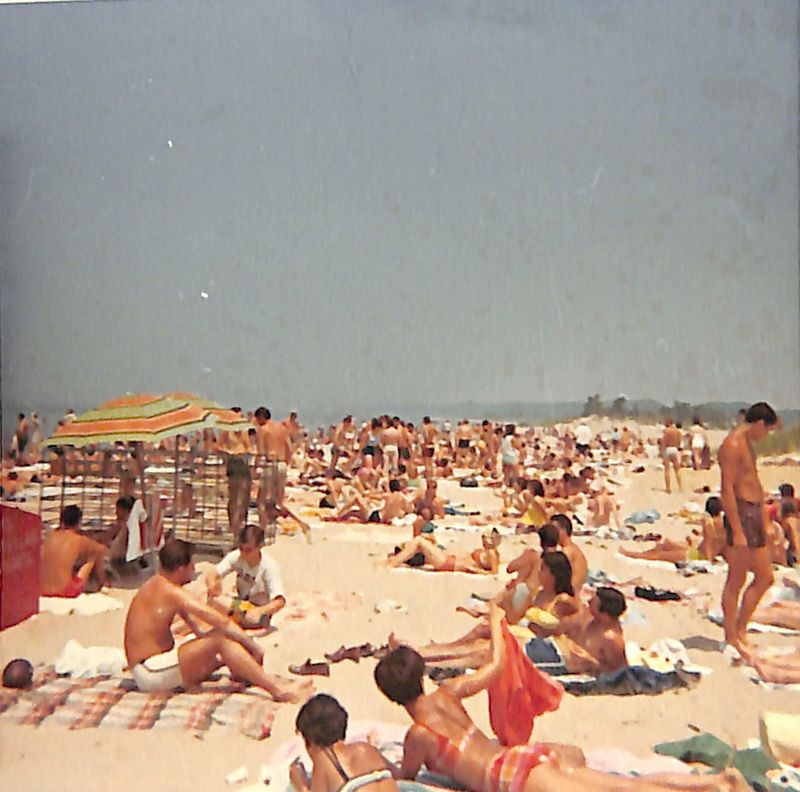Go to Crowded beach with people sunbathing item page