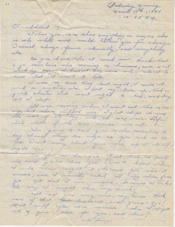 "Go to Letter to Edward ""Ned"" Manley by Jean Worthington, March 17, 1945. item page"