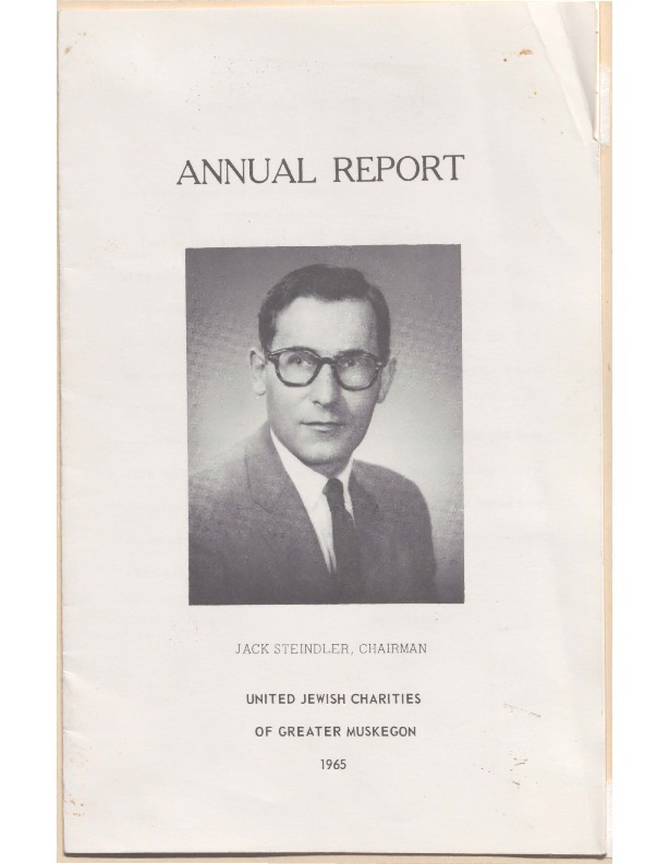 Go to B'nai Israel Temple Annual Report, 1965 item page