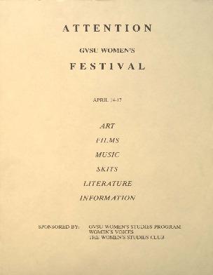 Go to GVSU Women's Festival item page