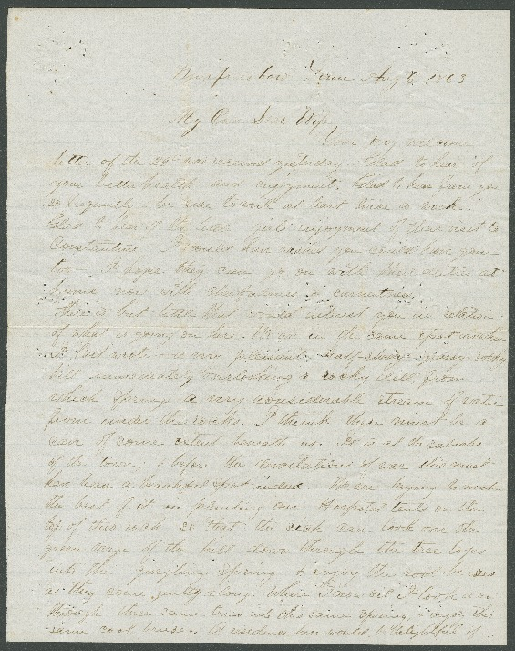 Go to John Bennitt to his wife [Letter 086] item page
