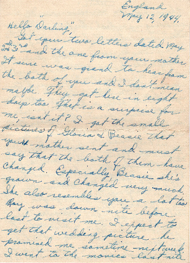 Go to Letter from Joe Olexa to Agnes Van Der Weide, May 12, 1944 item page