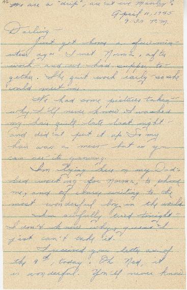 "Go to Letter to Edward ""Ned"" Manley by Jean Worthington, April 11, 1945. item page"