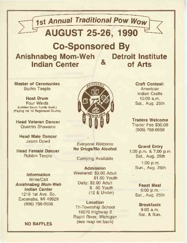 Annual Traditional Pow Wow, August 1990