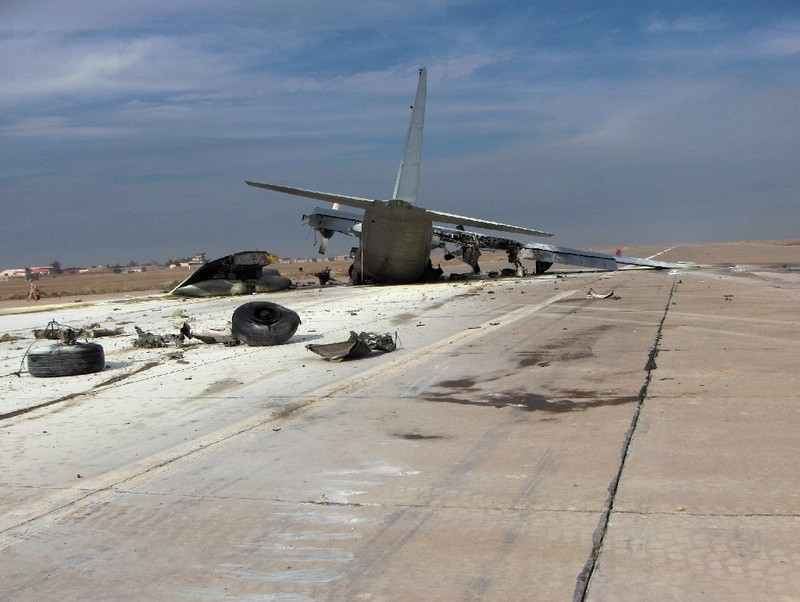 Go to Crashed Special Forces C-130 on the FOB Q-West runway item page