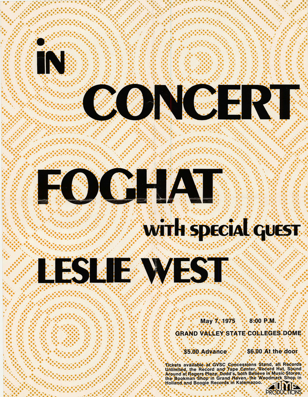 Go to Foghat with Leslie West, May 7, 1975 item page