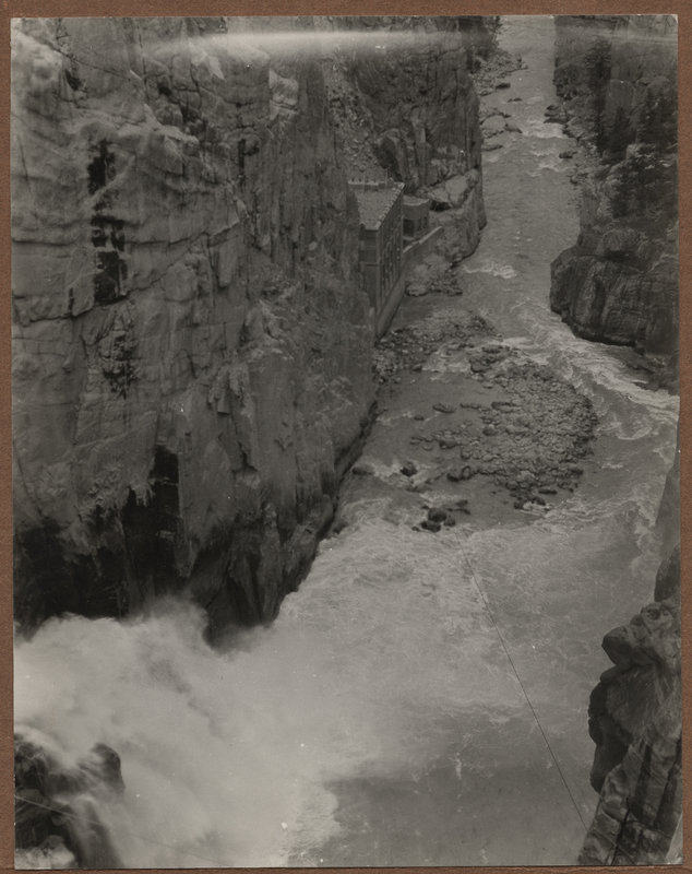 Go to Wyoming. Power house below Shoshone Dam item page