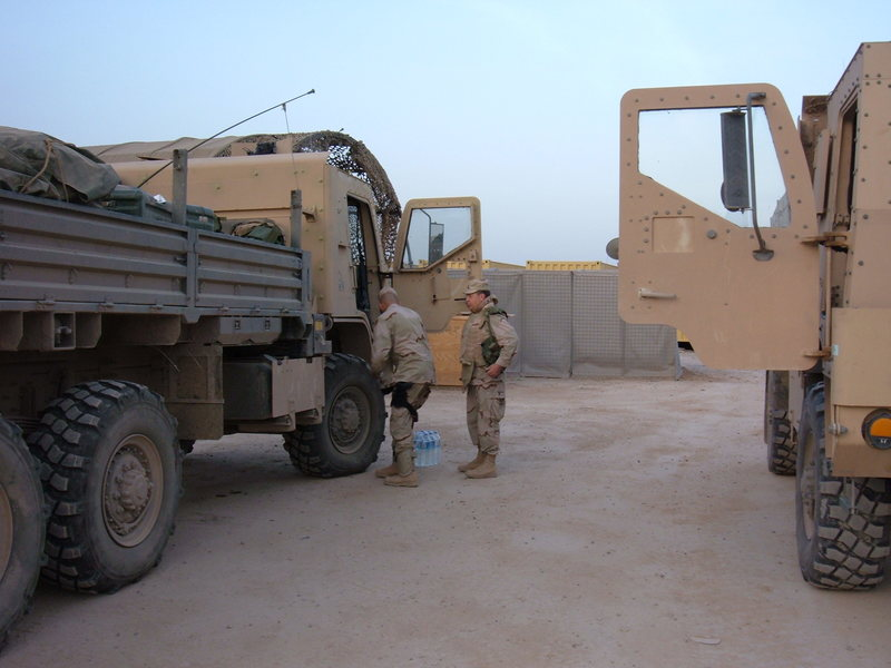 Go to Oakes and his men preparing for their first convoy from FOB Q-West to Balad in April 2005 item page