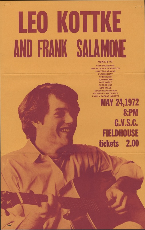 Go to Leo Kottke and Frank Salamone, May 24, 1972 item page