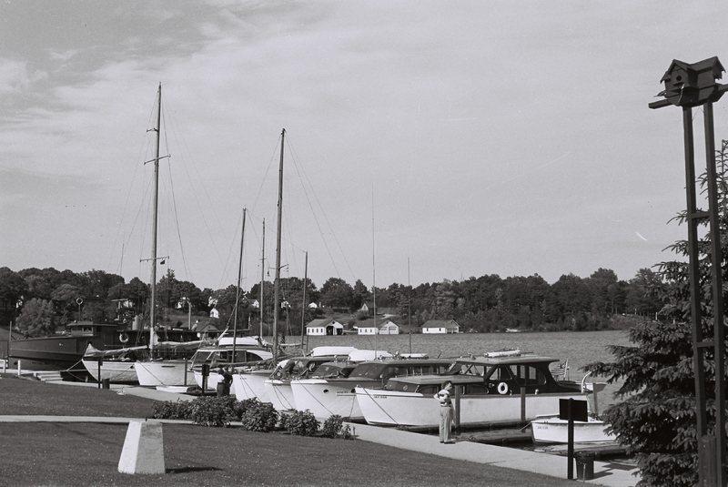 Michigan. Charlevoix boat dock