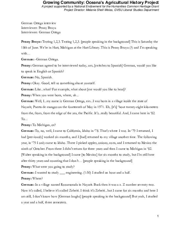 Go to Ortega, German (audio interview, Spanish transcript, and English translation) item page