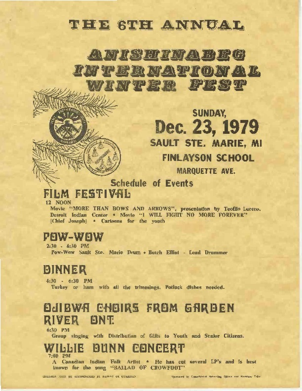 Annual Anishinabe International Winter Fest, December 1979