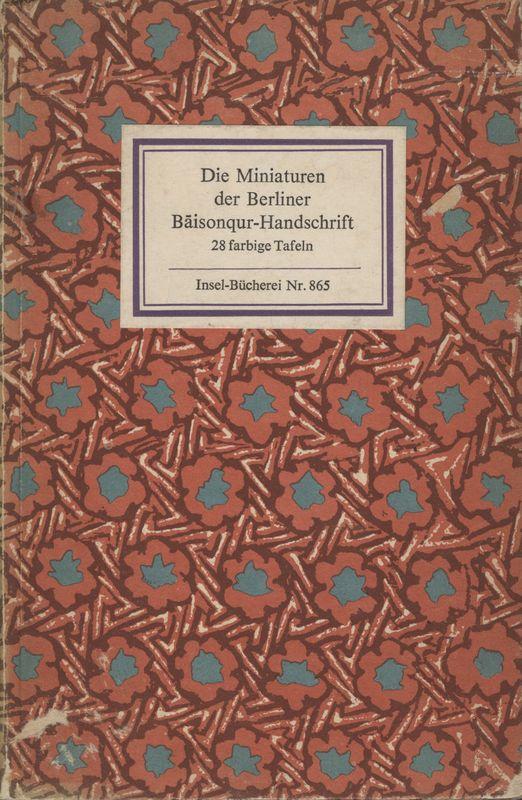 Go to Die Miniaturen der Berliner Bāisonqur-Handschrift item page