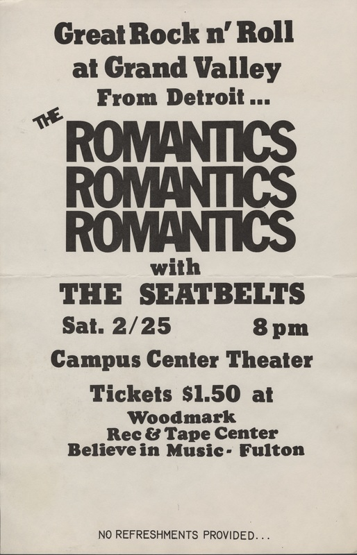 Go to Romantics with The Seatbelts, February 25, 1978  item page