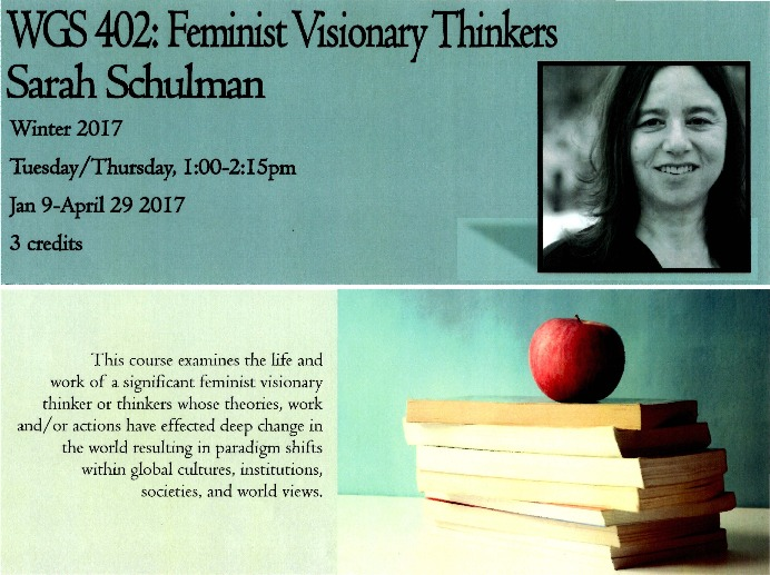 Go to Feminist Visionary Thinkers: Sarah Schulman item page