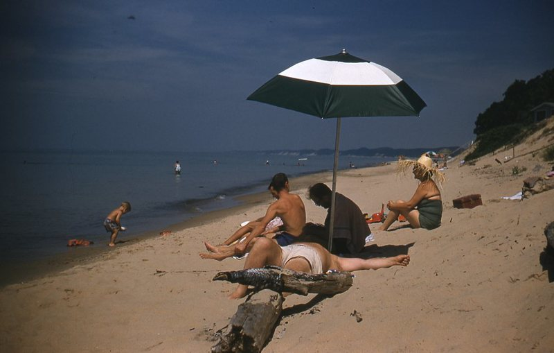 Go to Photograph of people on the beach item page