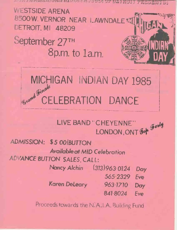 Go to Michigan Indian Day Celebration Dance, September 1985 item page