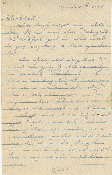 "Go to Letter to Edward ""Ned"" Manley by Jean Worthington, March 20, 1945. item page"