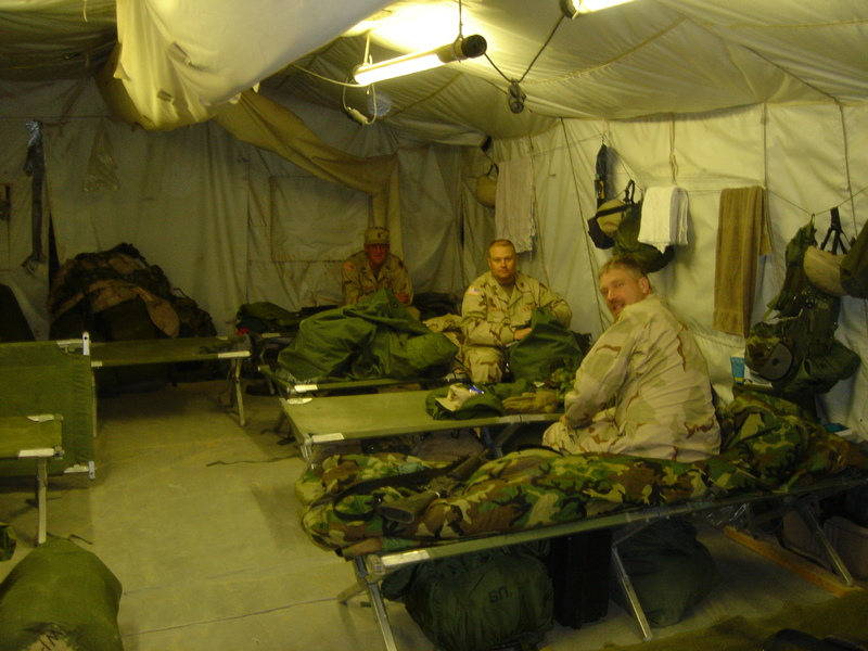 Go to Inside the living quarters at Camp Virginia, Kuwait, December 2004 item page